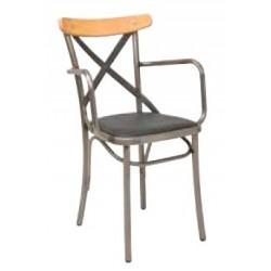 Метален трапезен стол Metropolitan