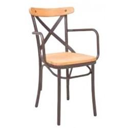 Метален трапезен стол Modus