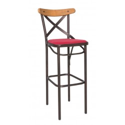 Бар столове София - Метален трапезен стол Antique/MW