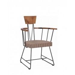 Метален трапезен стол Patrick