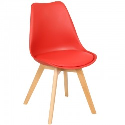 Трапезен стол J900 - червен