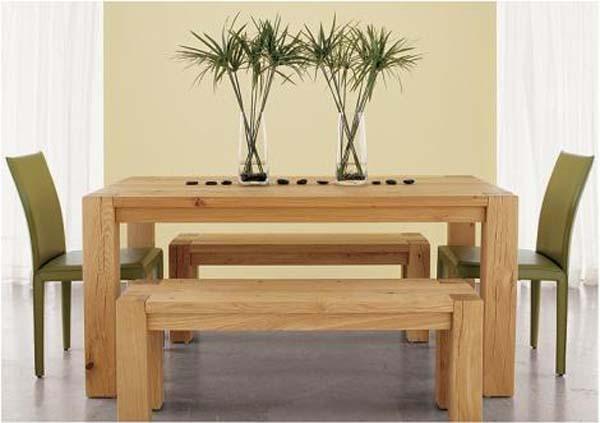 дървена трапезна маса