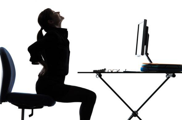 настройки на офис стол за предпазване от болки в кръста
