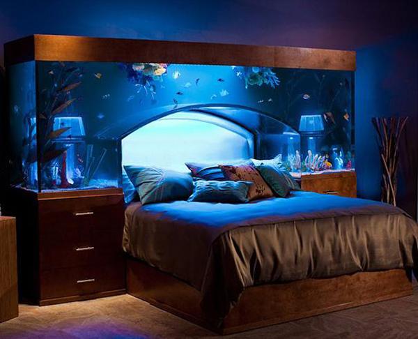 аквариум в спалнята