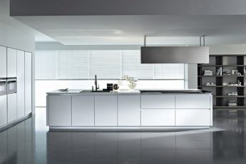 minimalist-kitchen-and-luxury-with-bookcase-design