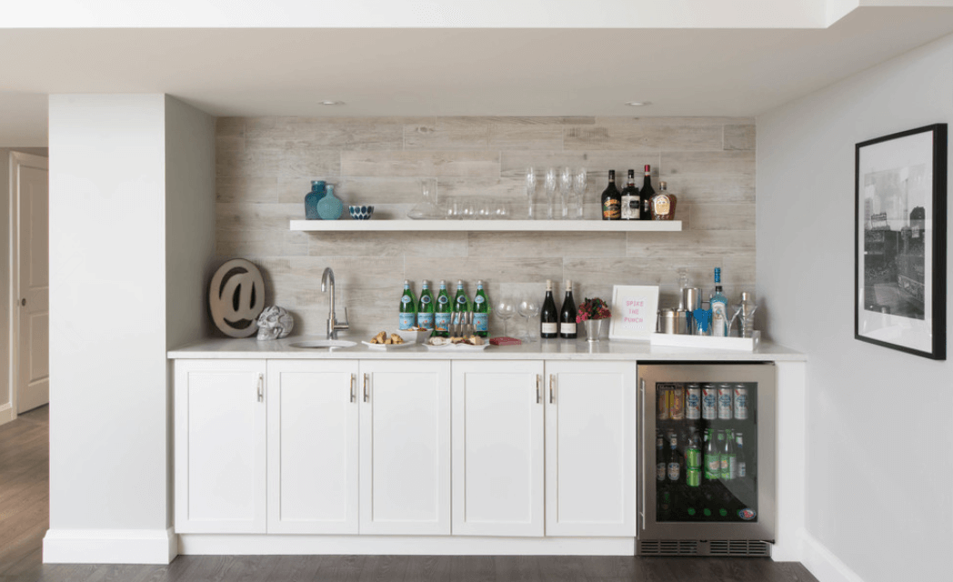 white-basement-bar