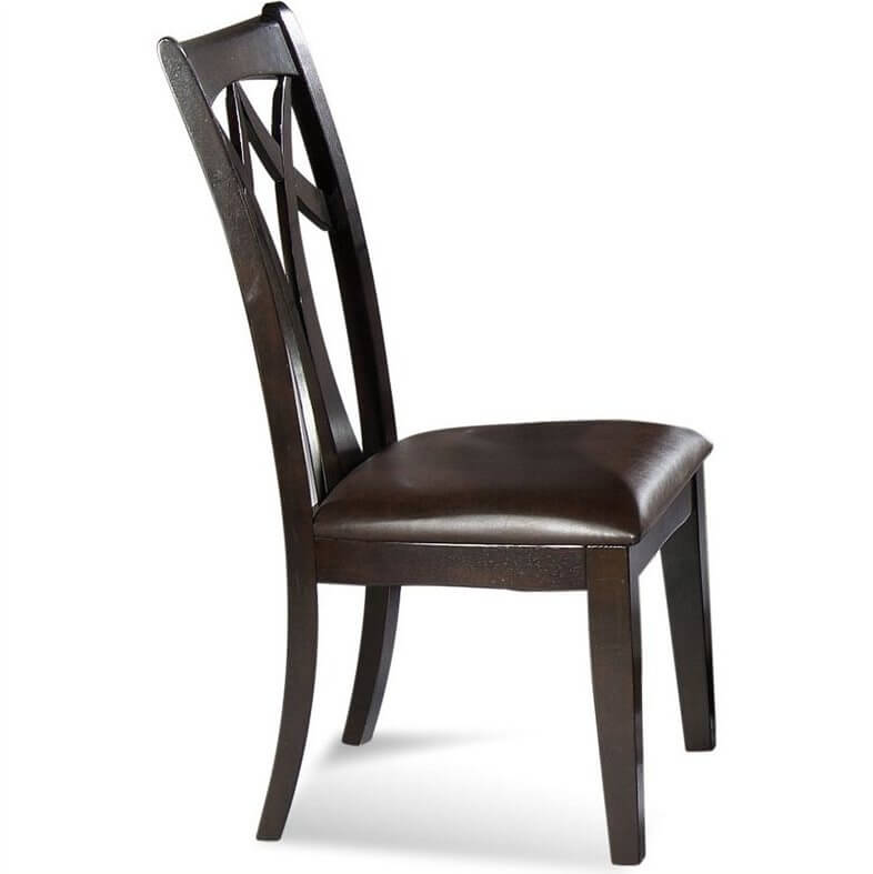 кухненски стол с кожена седалка