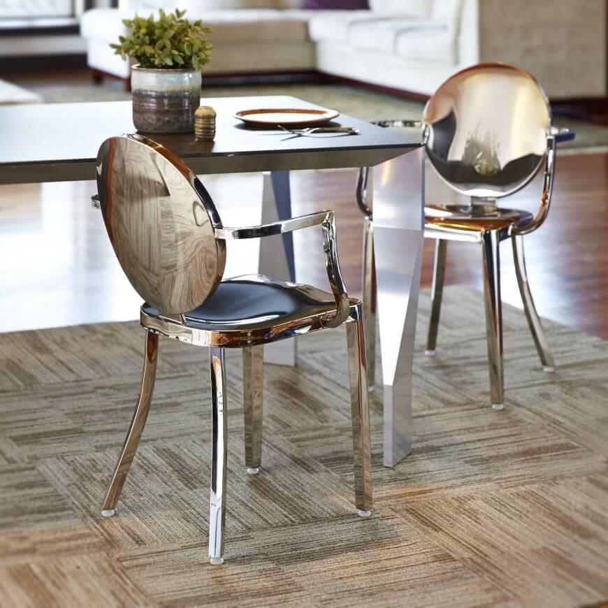 метален трапезен стол