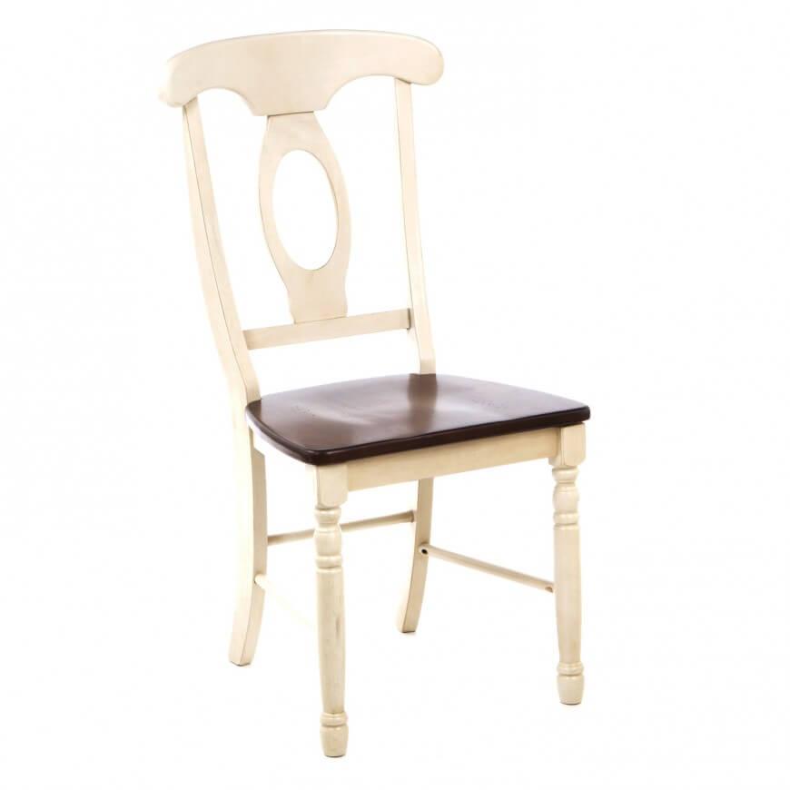 трапезен стол с дървена седалка