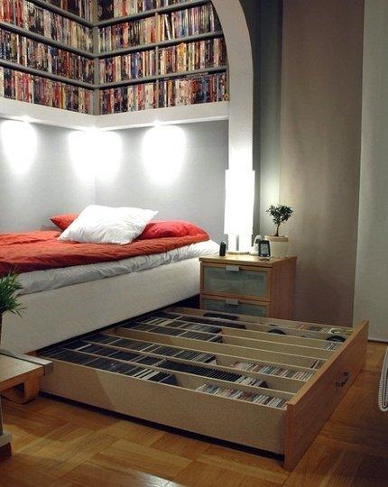 библиотека под леглото